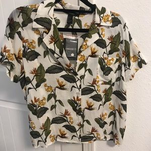flowy tropical shirt